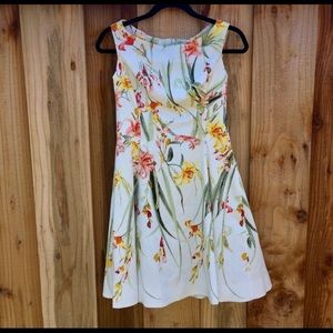 WHBM fit & flare summer floral dress 2
